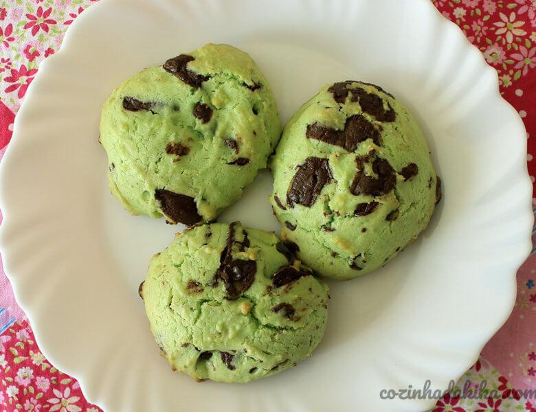 Receita de Cookies de Chocolate e Menta