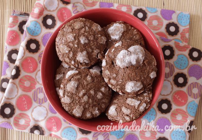 Receita de Chocolate Crinkle Cookies