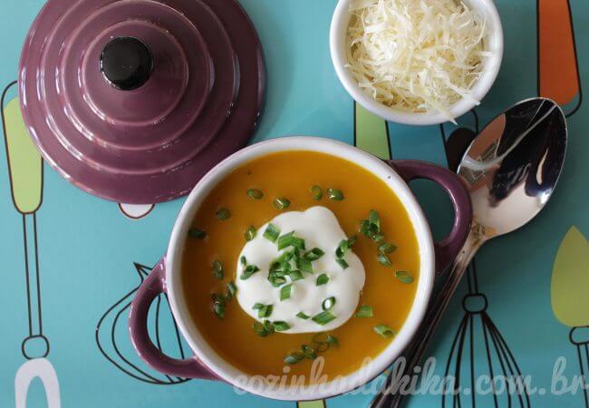 Receita de Sopa de Abóbora
