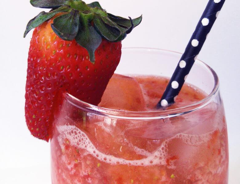 Receita de Drink de Morango, Mel e Cardamomo