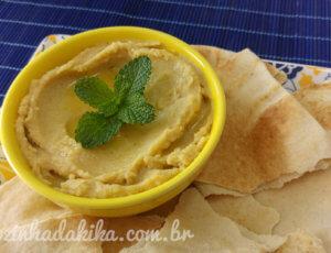 Receita de Homus (pasta de grão-de-bico)
