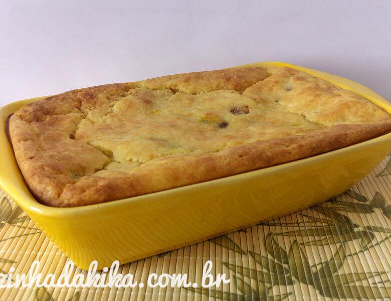 Receita de Torta de Mandioca Recheada com Brócolis e Calabresa
