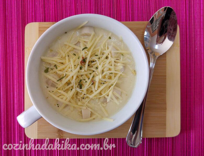 Receita de Sopa de Palmito